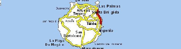Mapas rutas mapas pol ticos y f sicos de gran canaria - Puntos limpios gran canaria ...
