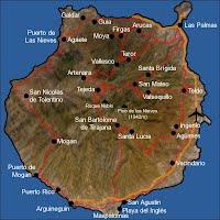 Mapa Municipios Gran Canaria.Mapas Rutas Mapas Politicos Y Fisicos De Gran Canaria